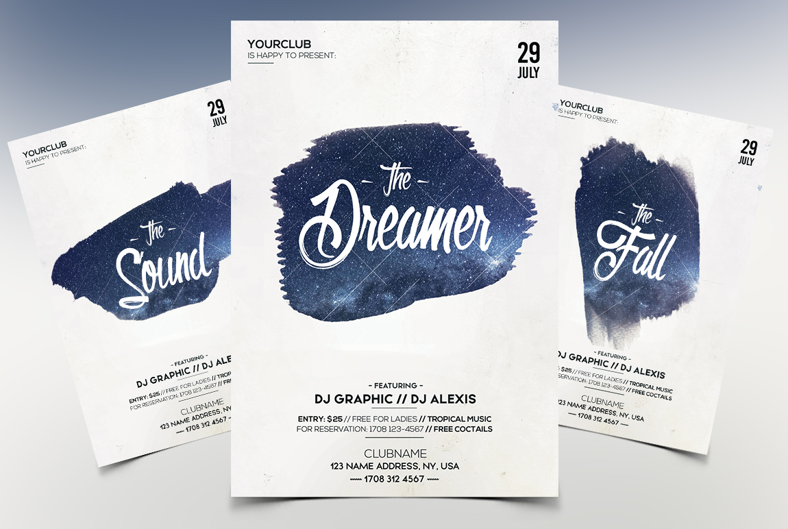 The Dreamer - Minimal PSD Flyer