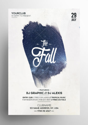 The Dreamer PSD Minimal Flyers