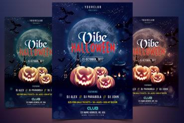 Vibe Halloween - PSD Flyer Template