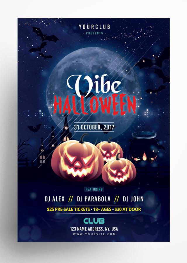 Vibe Halloween Flyer