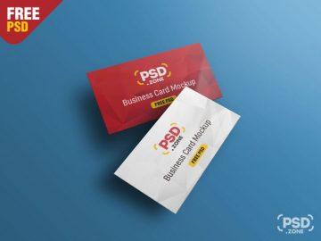 Floating Business Card - Free Mockup