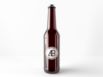 Realistic Beer Bottle - Free Mockup
