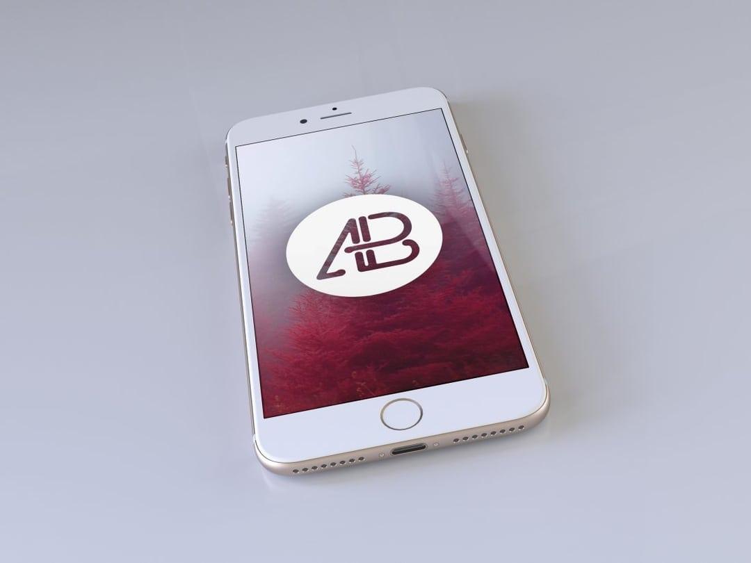 Realistic Gold iPhone 7 Plus Free Mockup Vol.2