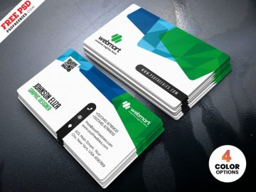 Colorful Business Card Design - Free Templates