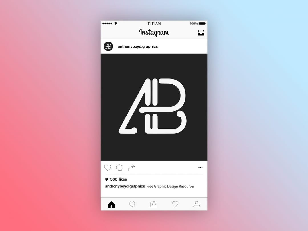 Instagram Post Page Free Mockup