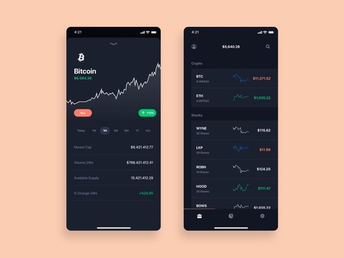 Currency Market App – Free UI Design