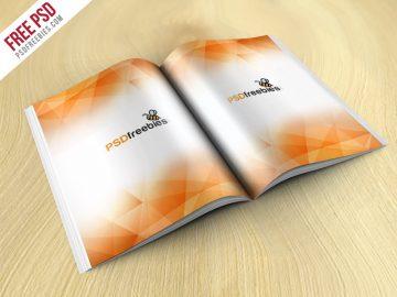 Brochure Magazine - Free Mockup
