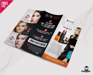 Free Beauty Salon TriFold Brochure PSD