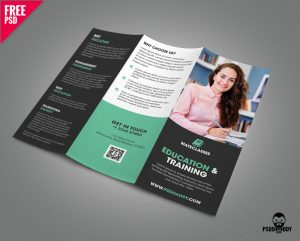 Free Education Trifold Brochure PSD Template