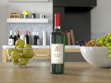 Wine Bottle - Free Mockup