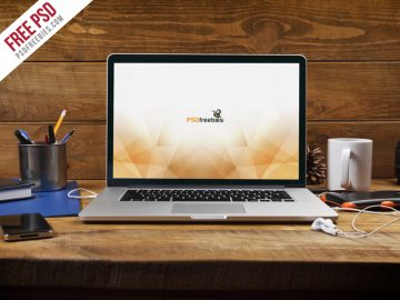 MacBook Pro Front View - Free Mockup