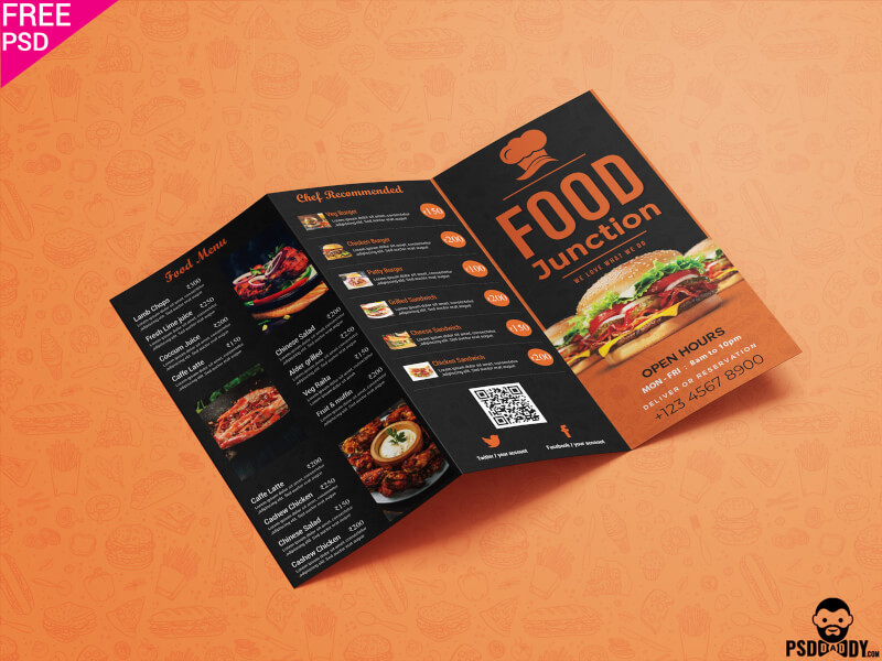 Free Restaurant Trifold Menu Brochure