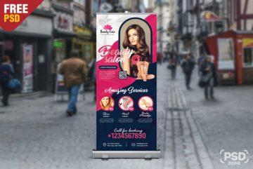 Beauty Salon - Free Roll Up Banner