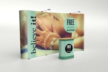Exlusive Trade and Show Booth Free Mockup