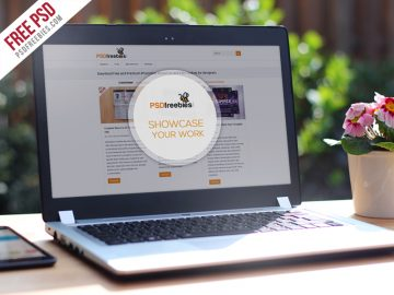 Realistic Laptop - Free Mockup Template