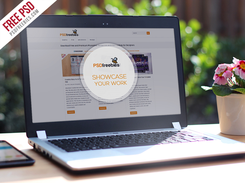 Realistic Laptop Free Mockup Template