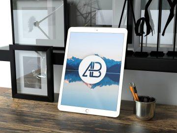 Realistic 12.9 Inch iPad Pro Free Mockup