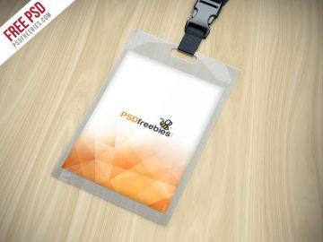 Identity Card Holder - Free Mockup