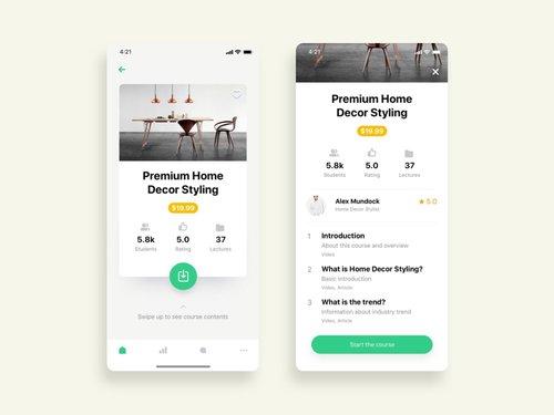 Free Course Detail App UI Design