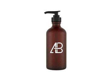 Glass Cosmetic Pump Bottle - Free Mockup