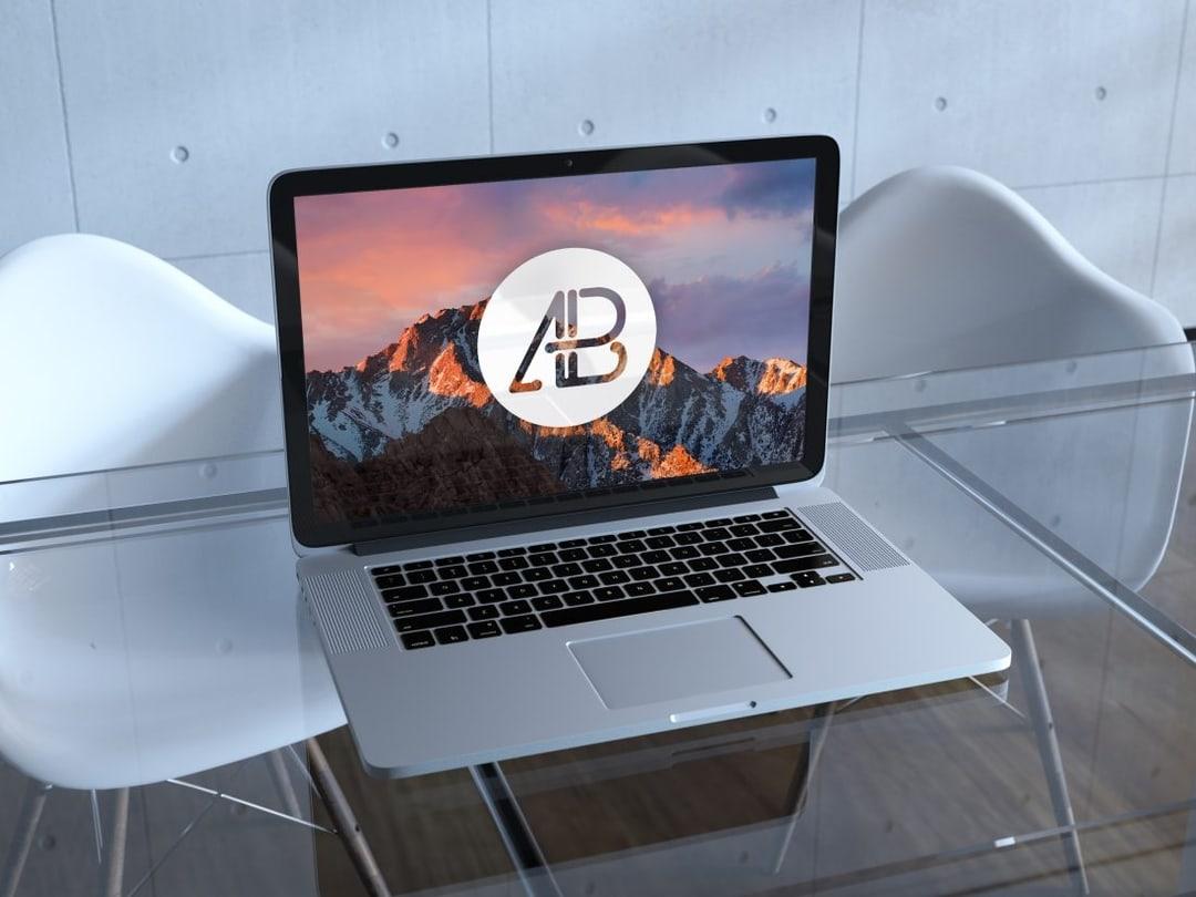 Realistic Retina Macbook Pro Free Mockup