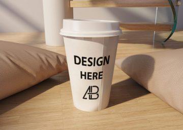 Realistic Coffee Cup - Free Mockup