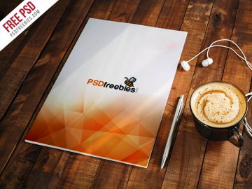 A4 Paper Mockup Free PSD Template