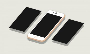2D Flat Isometric Perspective iPhone 6S Plus Free Mockup