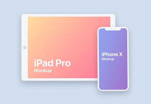 Clay iPhone iPad Pro Design Free Mockup