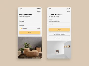 E-commerce Signup Login - Free UI Design