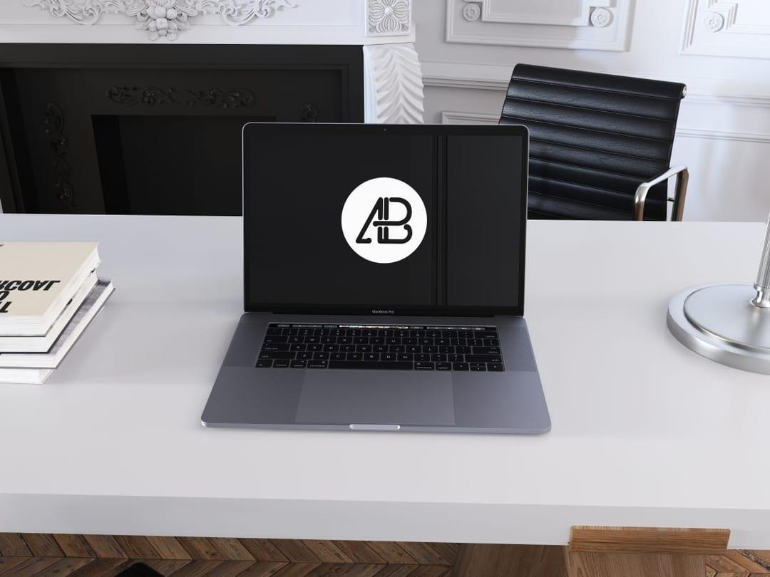 Space Gray MacBook Pro Free Mockup Vol.6