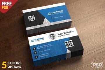 Corporate Business Card - Free PSD Bundle