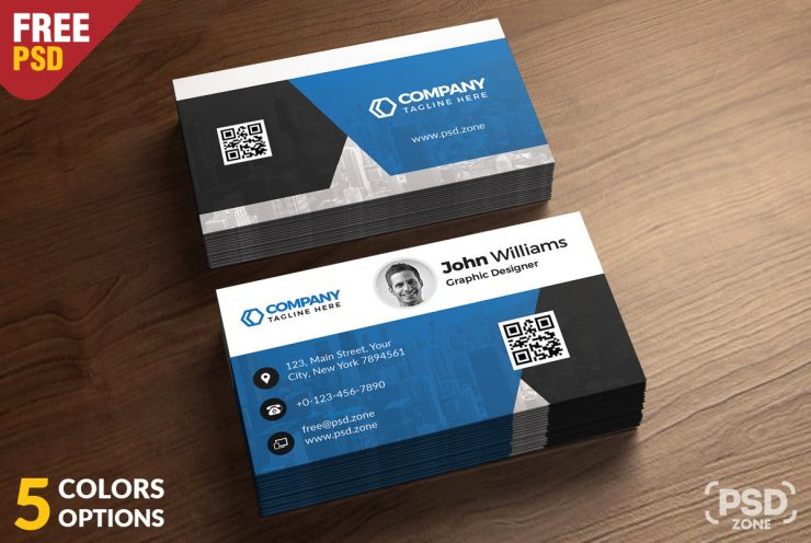 Corporate Business Card – Free PSD Bundle