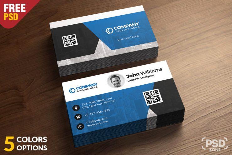 Corporate Business Card Free PSD Bundle