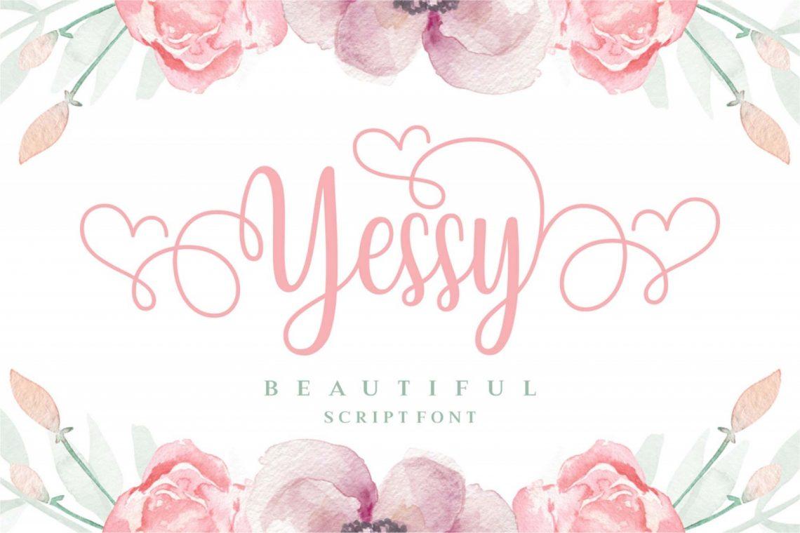 Yessy Free Script Font