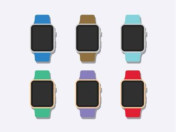 Flat 2D Apple Watch Free Mockup