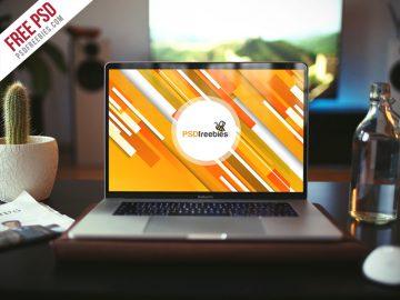 Realistic MacBook Pro - Free Mockup