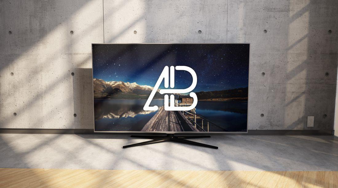 Realistic 4k TV Free Mockup