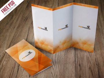 Tri-Fold Brochure - Free Mockup