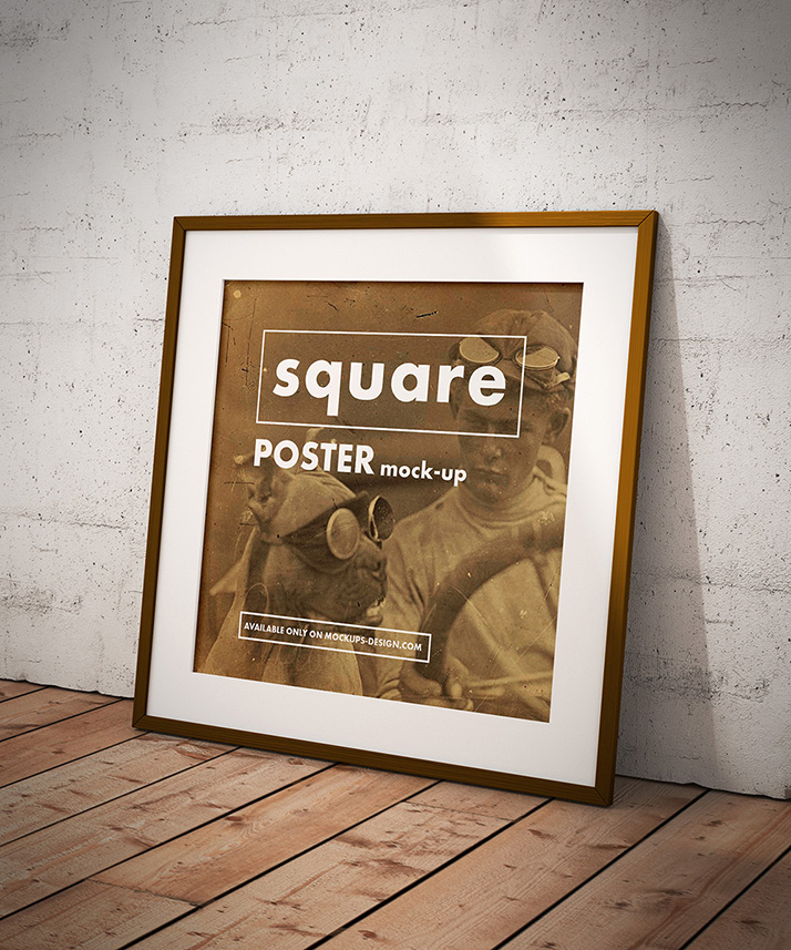 Free Square Poster Mockup