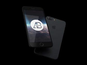 Realistic iPhone 7 Plus - Free Mockup Pack