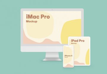 Apple Devices Design Free Mockup