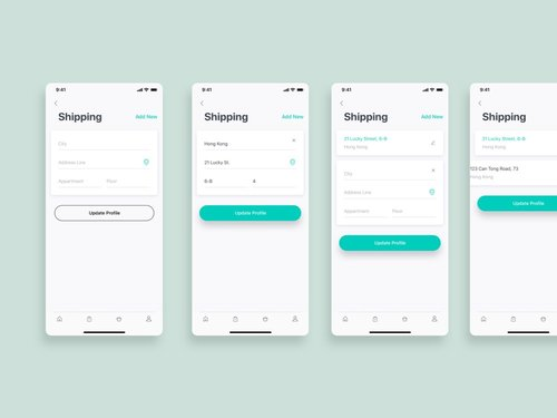 Free Shipping App UI Design