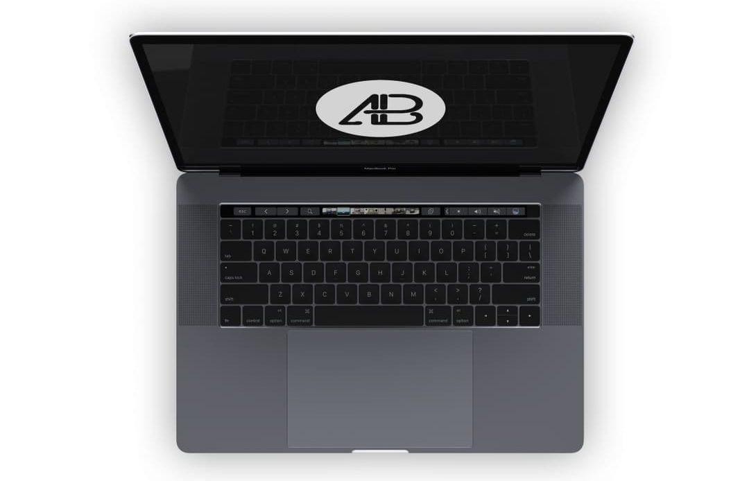 Realistic Space Gray Macbook Pro Free Mockup Vol.4