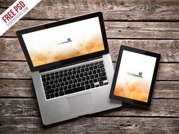 MacBook Pro and iPad - Free Mockup