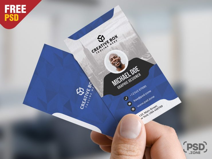 Free Vertical Corporate Business Card