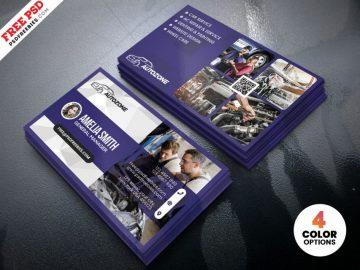 Free Car Repair Shop Business Card