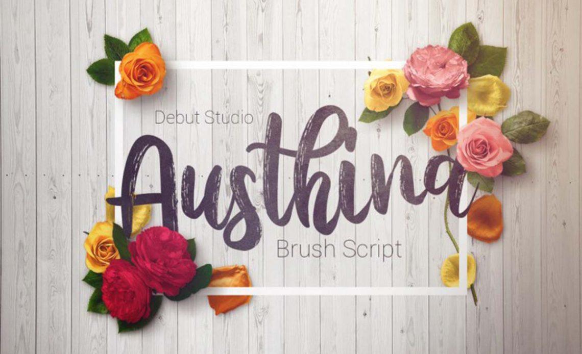 Austhina Free Brush Font
