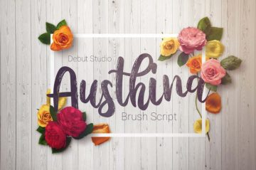 Austhina - Free Brush Font