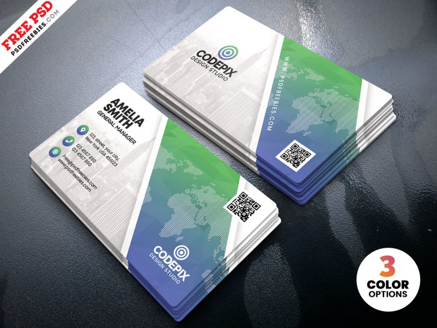 Free Print Ready Business Card PSD Template